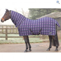 Masta Quiltmasta 350 Fixed Neck Stable Rug - Size: 5-0 - Colour: Purple Check