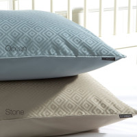 Christy Diamond double duvet cover stone