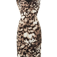 Episode Animal print ruched jersey dress, Multi-Coloured