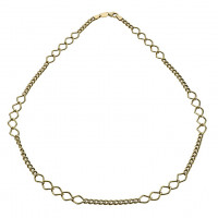 Together Bonded Silver & 9ct Gold Multi Link Necklace